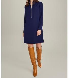 NGSTYLE Kadın Essentials Fermuar Detaylı Krep Elbise Lacivert NGKAW19EL0089