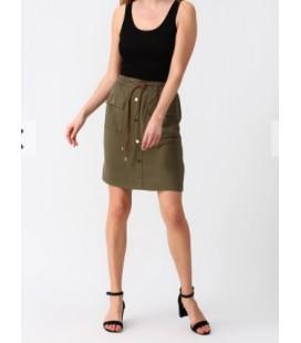 Fashion Friends Düğme Detaylı Haki Etek 9Y0957B1