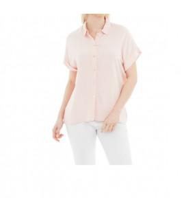 Fashion Friends Kadın Kısa Kollu Pudra Gömlek 9Y0304B1