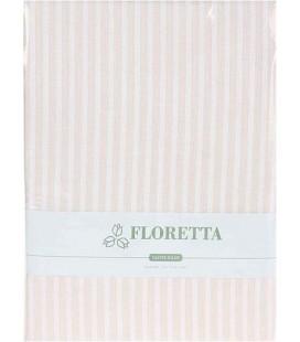 Floretta 2'li Çizgili Yastık Kılıfı Bej