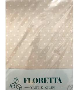 Floretta 2'li Puanlı Yastık Kılıfı Bej