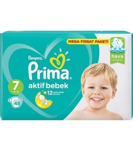 Prima Aktif Bebek 7 Numara 48'li Mega Fırsat Paketi Bebek Bezi