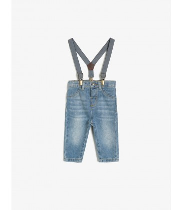 Koton Kemer Detaylı Jean Pantolon Mavi 0KMB48846ZD600