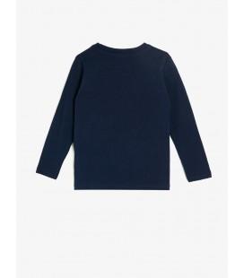 Koton Yazılı Baskılı T-Shirt Lacivert 0KKB16642OK720