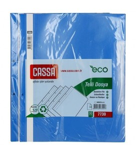 Cassa Telli Dosya Ekonomik 50'Li Paket Renk Mavi 7730