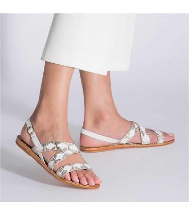 Hotiç Hakiki Deri Beyaz Altın Kadın Sandalet 01SAH103460A905