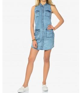 Mavi Justina Bleach Vintage Kadın |Denim Elbise 1315817780