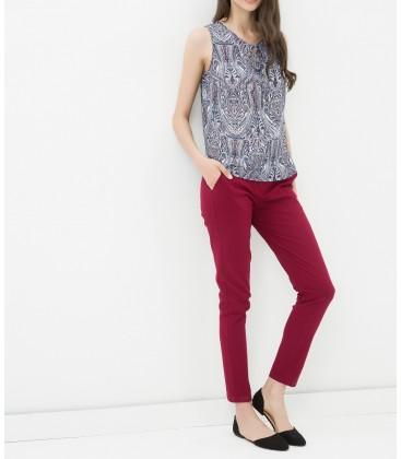 Koton Kadın Normal Bel Pantolon Şarap 6YAK42568UW492