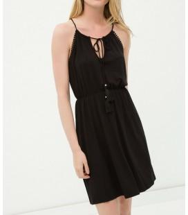 Koton Yaka Detaylı Kadın Elbise - Siyah 6YAK88404BK999
