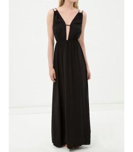 Koton Yaka Detaylı Kadın Plaj Elbisesi - Siyah 6YAK88491BW999