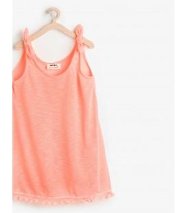 Koton Fiyonk Detaylı Kız Çocuk Elbise - Mercan 6YKG47758BM402