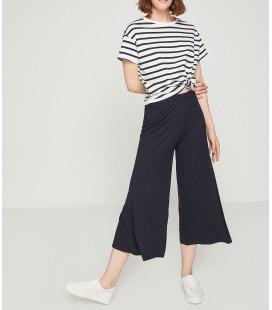 Koton Kadın Geniş Paça Pantolon Lacivert 8YAL41324OK712
