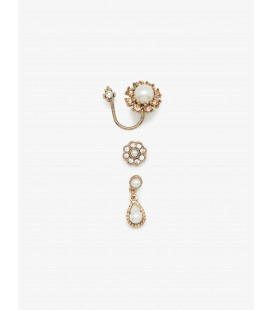 Stone Detailed Earring - Gold 7KAK73436AA199