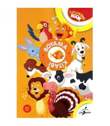 Boyama Kitabı Turuncu Hayvanlar - Aktiviteli Boyama Serisi - Çocuk Gezegeni