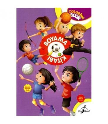 Boyama Kitabı Spor - Aktiviteli Boyama Serisi - Çocuk Gezegeni Yayınları