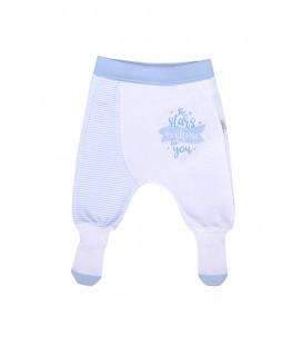 Kitikate Bebek Çoraptolon S59601 Mavi Beyaz