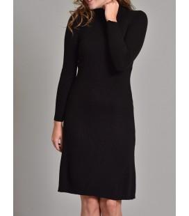 Orfeonegro Studio 2071 Siyah Düz Boğazlı Triko Kadın Elbise
