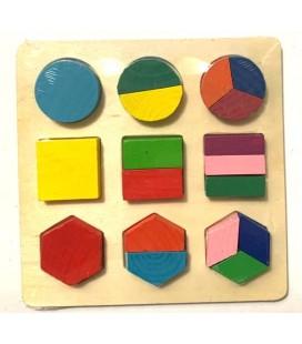 3D Ahşap Puzzle Geometri