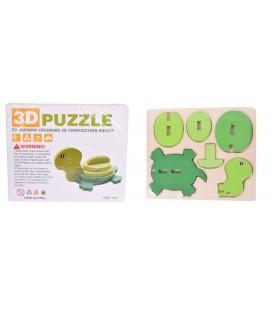 3D Ahşap Puzzle Kaplumbağa
