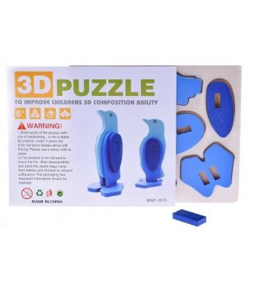 3D Ahşap Puzzle Penguen Mwz-1013