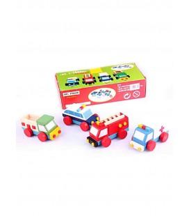 Hobby&Toys Ahşap Oyuncakları Tak Çıkar Taşıt Seti FLR61