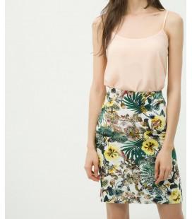 Koton Kadın Çiçekli Etek - Yeşil 6YAK73548EWD99