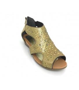 Punto Gold Renk Taşlı Kadın Ayakkabı 667006