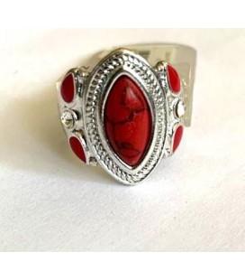 I am Kırmızı Taş Detaylı Kadın Yüzük 417-693