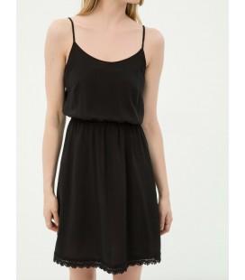Koton Kadın Dantel Detaylı Plaj Elbisesi Siyah 6YAK88455BW999