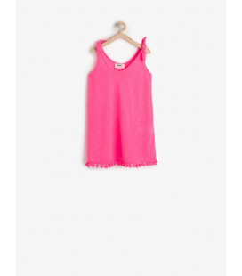 Koton Kız Çocuk Fiyonk Detaylı Elbise Fuşya 6YKG47758BM307