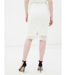 Koton Kadın Dantel Detaylı Etek Beyaz 6YAK73439EK001