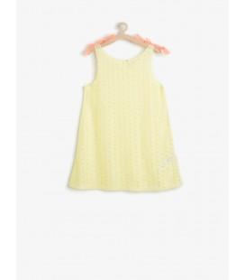 Koton Kız Çocuk Çiçek Desenli Elbise Sarı 6YKG89174BK169