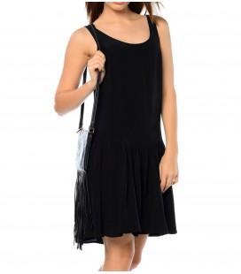 Mavi Kadın Siyah Kolsuz Askılı Elbise 30257-900