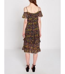 Koton Kadın Çiçekli Elbise  Siyah 7YAK88815PW09A