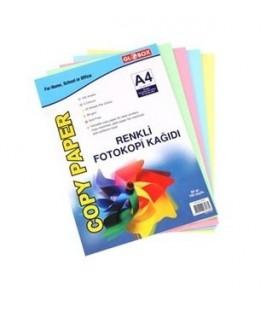 Globox Renkli Fotokopi Kağıdı 100'Lü 80 gr.