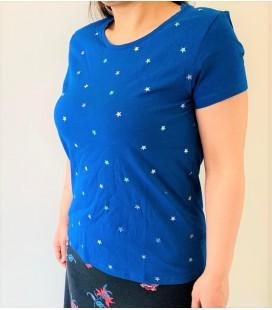 Mudo Yıldız Detaylı Kadın Tişört 1186937004