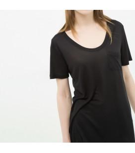 Koton Kadın U Yaka T-Shirt - Siyah 6KAK12237YK999