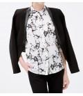 Koton Kadın Desenli Gömlek - Gri 6KAK62430CWD98