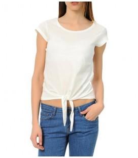 Koton Kadın Tişört Bağcık Detaylı 4YAL11983OK001