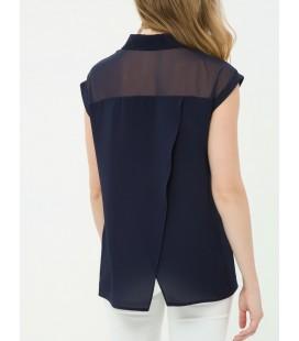 Koton Kadın Sırt Detaylı Gömlek - Lacivert 6KAK62902OW720