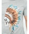 Koton Erkek Baskılı T-Shirt - Gri 6KAM11587LK04F
