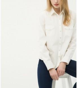 Koton Kadın Klasik Yaka Gömlek - Beyaz 6KAK68608OW001