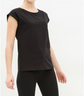 Koton Kadın Bisiklet Yaka T-Shirt - Siyah 6KAK12583OK999