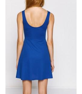 Koton Kadın Kolsuz Elbise - Mavi 8KAL81908OK606
