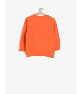 Koton Erkek Baskılı Sweatshirt Turuncu 6YKB16948OK200