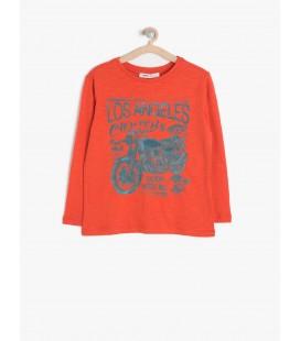 Koton Kids Uzun Kollu, Bisiklet Yaka T-Shirt  7KKB18551OK200