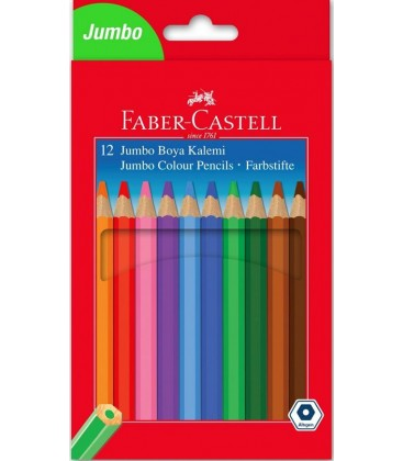 Faber Castell Jumbo Kuru Boya Kalemi 12 li 5171951000