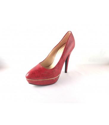 Shoe & Me Women's High-Heeled Shoes Burgundy