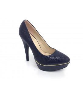 Shoe & Me Kadın Lacivert Topuklu Ayakkabı TS1