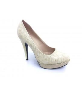 Shoe & Me Kadın Krem Topuklu Ayakkabı TS1